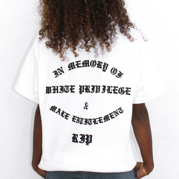 "45711d61f95 Melody Ehsani White ""R.I.P."" T-Shirt"